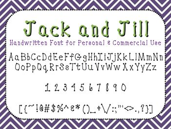 Jack and Jill - FREE Font for Personal and Commercial Use