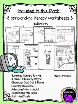 Jack and Jill Literacy Activity Pack