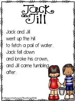 Nursery Rhyme Jack and Jill