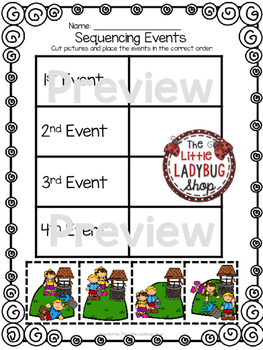 Jack and Jill Nursery Rhyme Printable Activities