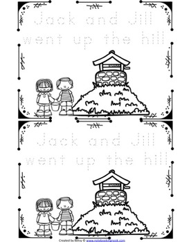 Jack and Jill Nursery Rhyme Activity Packet