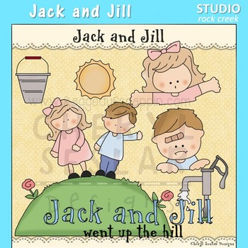 Jack and Jill Nursery Rhyme Clip Art C Seslar