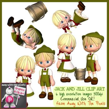Jack and Jill Nursery Rhyme Clip Art - High Quality Clipart for Teachers