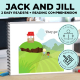 Jack and Jill Nursery Rhyme Emergent Reader + Reading Comp