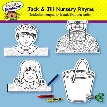 Jack and Jill Nursery Rhyme Headbands & Sentence Strips