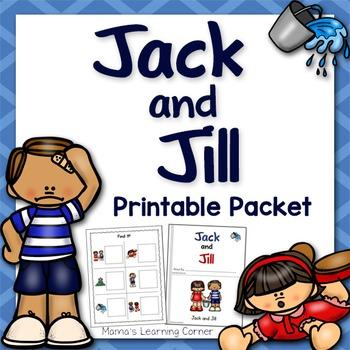 Jack and Jill Nursery Rhyme Packet