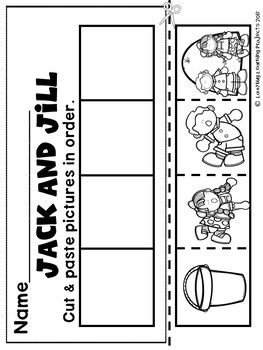 Jack and Jill Bundle (A Nursery Rhyme Sight Word Emergent Reader and Lap Book)