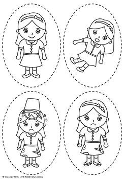 Jack and Jill Nursery Rhyme Puppets