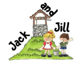 Jack and Jill Nursery Rhyme Words for Pocket Chart