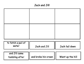 Jack and Jill Sequencing Activities