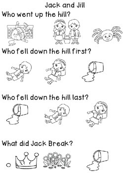 Jack and Jill an Adapted Nursery Rhyme with Student Book