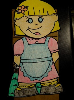 Jack and Jill nursery rhyme paper bag puppets