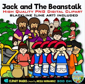 Jack and The Beanstalk Clip Art for Personal and Commercial Use