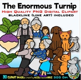 The Enormous Turnip Clip Art for Personal and Commercial Use