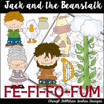 Jack and The Beanstalk Clipart Collection