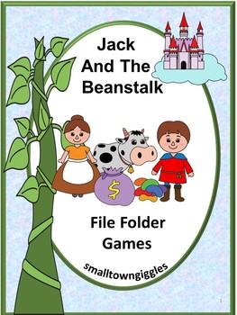 Jack and The Beanstalk File Folder Games P-K,K, Special Ed. Fine Motor Skills