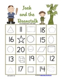 Jack and the Beanstalk 2D, 3D and teen number review Bingo