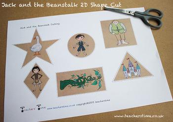 Jack and the Beanstalk 2D Shape Cut