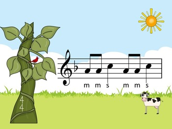 Jack and the Beanstalk - A Game for Practicing So-Mi (treble notation)