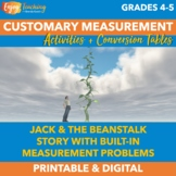 Jack and the Beanstalk Math - Customary Measurement Activity Book