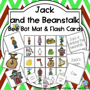 Jack and the Beanstalk Bee Bot Mat and Flash Cards