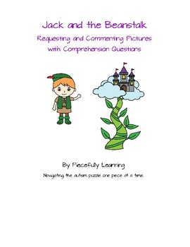 Jack and the Beanstalk Book Activity Pictures, Comprehension Questions