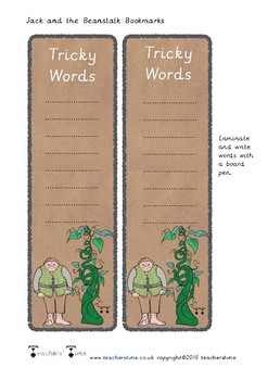 Jack and the Beanstalk Bookmarks