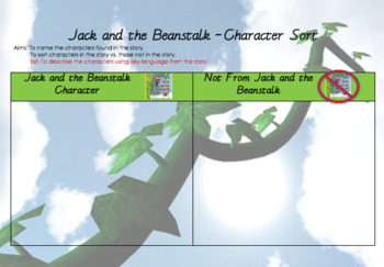 Jack and the Beanstalk Character Sort
