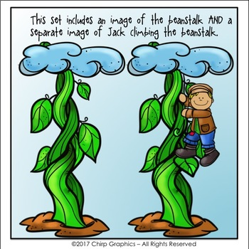 Jack and the Beanstalk Clip Art Set - Chirp Graphics