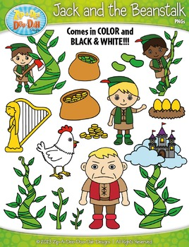 Jack and the Beanstalk Fairy Tale Clip Art Set — Over 70 Graphics!