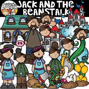 Jack and the Beanstalk Clipart {Reading Clipart}