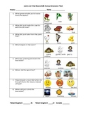 Jack and the Beanstalk Comprehension