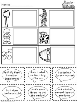 Jack and the Beanstalk - Comprehension Activities