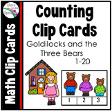 Goldilocks and the Three Bears Counting Clip Cards 1-20