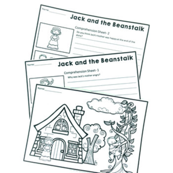 Fairy Tale Activity Pack: Jack and the Bean Stalk Reading, Writing & Sequencing