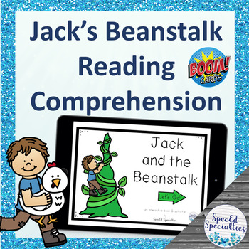 Jack and the Beanstalk Fairy Tales Reading Comprehension BOOM Cards™