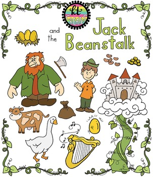 Jack and the Beanstalk Fairytale Clipart Set {KT Creates Original}