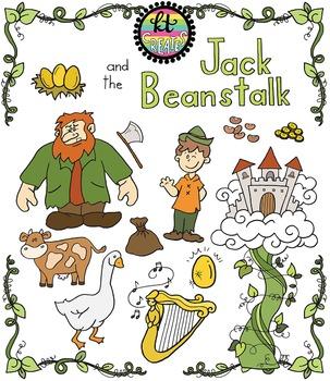Jack and the Beanstalk Fairytale Clipart Set {KT Creates Original}