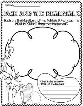 Jack and the Beanstalk Folktale Handouts