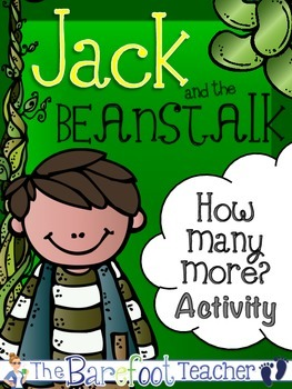 Jack and the Beanstalk Math - 'How Many More' Activity {Fa