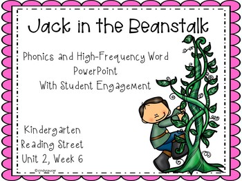 Jack and the Beanstalk, Kindergarten, PowerPoint, Reading Street