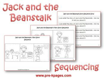 Jack and the Beanstalk Literacy Activities for Pre-K and Kindergarten