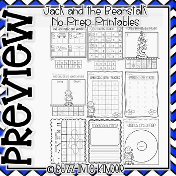 Jack and the Beanstalk NO PREP Printables