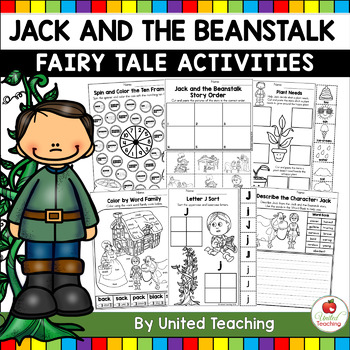 Jack and the Beanstalk Fairy Tale Activities (No Prep)