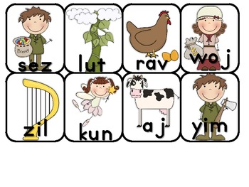 Jack and the Beanstalk Nonsense Word Fluency Practice Game: Fee, Fi, Fo, Fum!