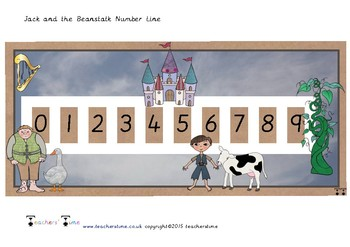 Jack and the Beanstalk Number Line to 9