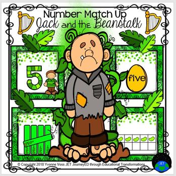 Jack and the Beanstalk Number Match Up
