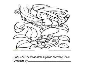 Jack and the Beanstalk Persuasive Writing
