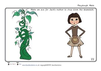 Jack and the Beanstalk Playdough Mats