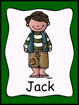 Jack and the Beanstalk Posters (11 Total) & Writing Activity {Fairy Tales}